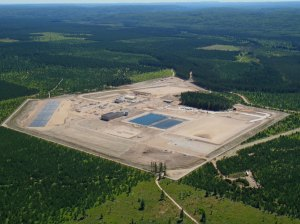 An aerial view of Kennecott's Eagle mine, near Marquette, Michigan.