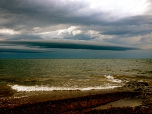 Storm clouds over Lake Superior.