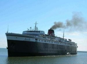 The ferry SS Badger has dumped its coal ash into Lake Michigan for decades.