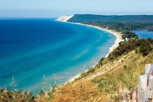 Sleeping Bear Dunes in northern Michigan.