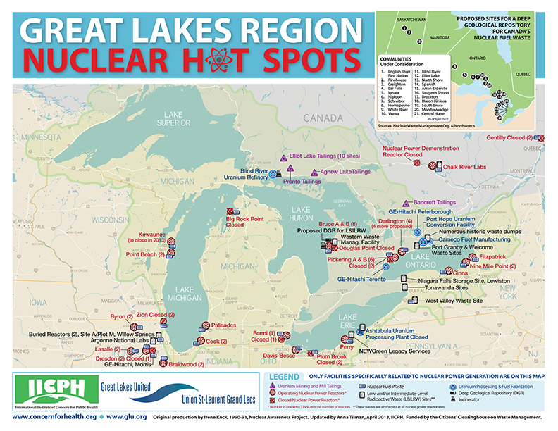 Four nuclear power plants on the great lakes rank among the nations and theres this a canadian utility is seeking approval to bury 200000 cubic meters of low and intermediate level radioactive waste near lake huron gumiabroncs Choice Image
